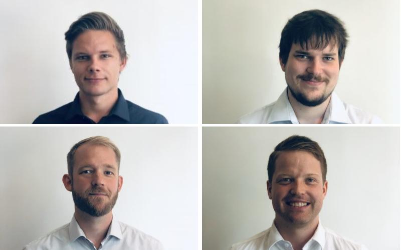 Alexander Westi Astrup, Stinus Møhl Thomsen, Kristian Skov og Larus Ingi Larusson